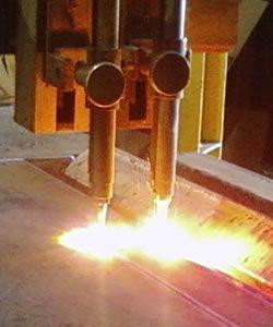 CNC torch cutting